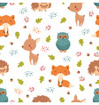 pattern with forest animals vector image