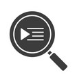playlist search glyph icon vector image vector image