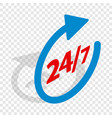 round clock support isometric icon vector image vector image