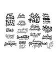 set 16 inspirational cute fall calligraphy