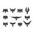 set eagles eagle silhouette design for logo vector image