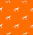 shepherd dog pattern seamless vector image