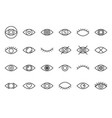 simple eye outline icon pixel perfect vector image vector image