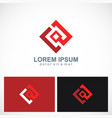 square geometry technology logo vector image vector image