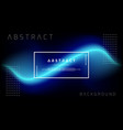 trendy abstract blue liquid background vector image vector image