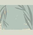 tropical abstract botanical navy green foliage vector image