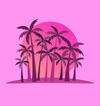 tropical landscape with palm trees on a vector image vector image