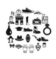 vogue icons set simple style vector image vector image