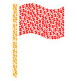 waving flag collage of dollar and dots vector image vector image