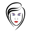 Woman head symbol vector image