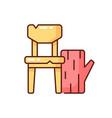 wood waste rgb color icon vector image