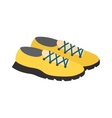 Yellow sneakers vector image vector image