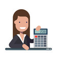 young businessman or manager with calculator in vector image vector image