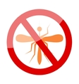 Zika Virus with mosquito over grunge graphic vector image