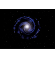 background with spiral galaxy vector image