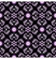 black seamless vintage pattern vector image