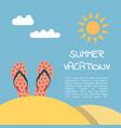 summer vacation beach vector image