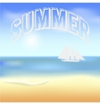 Beach and tropical sea with bright sun EPS10 vector image