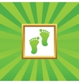 Footprint picture icon vector image