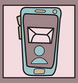smartphone notification flat icon vector image