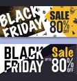 Black Friday Sale Banner Background vector image