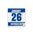 australia day calendar vector image vector image
