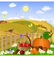 autumn rural landscape vector image vector image