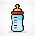 baby bottle icon design vector image
