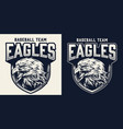 baseball team monochrome logo vector image vector image
