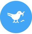 Bird Eating Worm vector image vector image