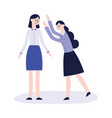 bullying of teen girl flat concept vector image