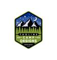 camp logo design vector image vector image