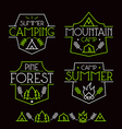 Camping badges and icons vector image