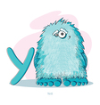 Cartoons Alphabet - Letter Y with funny Yeti vector image vector image