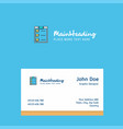 checklist logo design with business card template vector image vector image