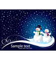 Christmas card with smowman vector image vector image