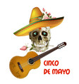 cinco de mayo emblem design with lettering vector image vector image