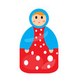 colored matrioshka toy icon vector image vector image