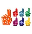 Colorful foam fingers set