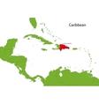 Dominican Republic map vector image vector image