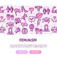 feminism movement flyer banner posters card vector image