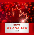 fireworks and canada flag vector image vector image