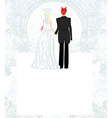 funny wedding invitation vector image vector image
