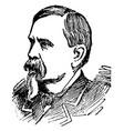 general william b franklin vintage vector image vector image