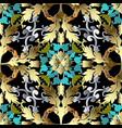 gold baroque 3d seamless pattern ornate damask vector image vector image