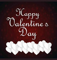 happy valentines day typographic and dark pattern vector image
