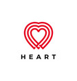 heart logo icon line outline monoline style vector image vector image