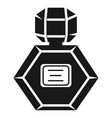 hexagon perfume bottle icon simple style vector image vector image