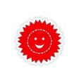 icon sticker realistic design on paper sun vector image vector image