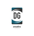 initial letter dg creative abstract logo template vector image vector image